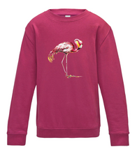 JanaRoos - T-shirts and Sweaters - Kid's Sweater - Packshot - Hand drawn illustration - Round neck - Long sleeves - Cotton - Pink - Roze - Flamingo