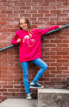 kidssweater Flamingo vogel Hot Pink roos magenta wallpicture fotoshoot