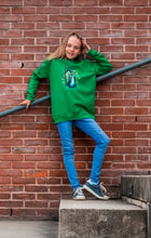 kidssweater Peacock Pauw Kelly green gras groen wallpicture fotoshoot