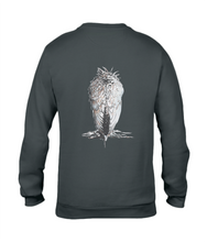 JanaRoos - T-shirts and Sweaters - Sweater - Packshot - Hand drawn illustration - Round neck - Long sleeves - Cotton - Black - Zwart - White raven - Witte raaf