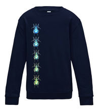 JanaRoos - T-shirts and Sweaters - Kid's Sweater - Packshot - Hand drawn illustration - Round neck - Long sleeves - Cotton - New french navy - Blauw - Beetles - Kevers