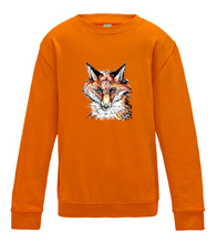 JanaRoos - T-shirts and Sweaters - Kid's Sweater - Packshot - Hand drawn illustration - Round neck - Long sleeves - Cotton - Orange crush - Oranje - Fox - Vos