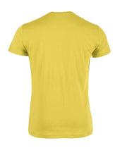 Men T-shirt - back side - packshot - geel - yellow