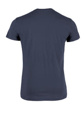 T-shirt back side packshot blauw