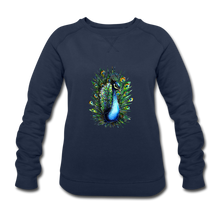 JanaRoos - T-shirts and Sweaters - Sweater - Packshot - Hand drawn illustration - Round neck - Long sleeves - Cotton - Blue - Blauw - Peacock - Pauw