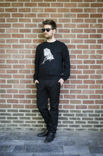 Wall Picture Men's T-Shirt Iguana Illustration Black and White Sunglasses hagedis zwart