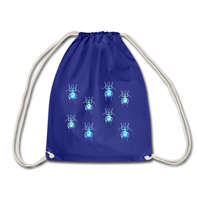 JanaRoos - Accessoires - Drawstring bag - bag - Packshot - Hand drawn illustration - Cotton - Royal Blue - royaal blauw - The beetles - de kevers