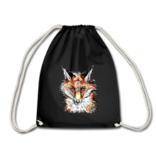 JanaRoos - Accessoires - Drawstring bag - bag - Packshot - Hand drawn illustration - Cotton - black - zwart - Fox - vos