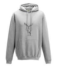 JanaRoos - Hoodie - Packshot - Hand drawn illustration - Round neck - Long sleeves - Cotton -white- deer