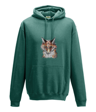 JanaRoos - Hoodie - Packshot - Hand drawn illustration - Round neck - Long sleeves - Cotton - jade - fox- vos