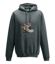 JanaRoos - Hoodie - Packshot - Hand drawn illustration - Round neck - Long sleeves - Cotton - charcoal - foxy - vos