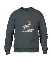 JanaRoos - T-shirts and Sweaters - Sweater - Packshot - Hand drawn illustration - Round neck - Long sleeves - Cotton - jet black - zwart - gems - mountain goat - berggeit