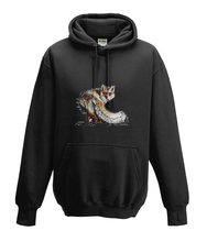 JanaRoos - Hoodies - Kids Hoodie - Packshot - Hand drawn illustration - Round neck - Long sleeves - Cotton - black - zwart -fox - vos