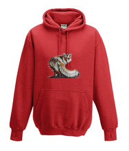 JanaRoos - Hoodies - Kids Hoodie - Packshot - Hand drawn illustration - Round neck - Long sleeves - Cotton - fire red - vuur rood -fox - vos