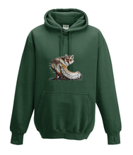 JanaRoos - Hoodies - Kids Hoodie - Packshot - Hand drawn illustration - Round neck - Long sleeves - Cotton - forest green - mos groen -fox - vos
