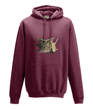 JanaRoos - Hoodie - Packshot - Hand drawn illustration - Round neck - Long sleeves - Cotton - plum- coffee owl - koffieuil