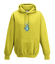 JanaRoos - Hoodies - Kids Hoodie - Packshot - Hand drawn illustration - Round neck - Long sleeves - Cotton - yellow - geel - beetle - kever