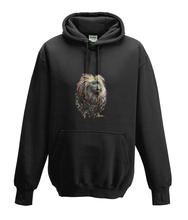 JanaRoos - Hoodies - Kids Hoodie - Packshot - Hand drawn illustration - Round neck - Long sleeves - Cotton - black - zwart - golden lion monkey - leeuwaapje