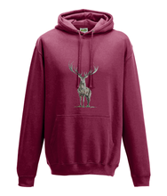 JanaRoos - Hoodie - Packshot - Hand drawn illustration - Round neck - Long sleeves - Cotton - red hot chilli - deer