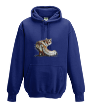 JanaRoos - Hoodies - Kids Hoodie - Packshot - Hand drawn illustration - Round neck - Long sleeves - Cotton - oxford navy blue - marine blue-fox - vos