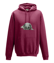 JanaRoos - Hoodie - Packshot - Hand drawn illustration - Round neck - Long sleeves - Cotton - red hot chilli -pugg- mops