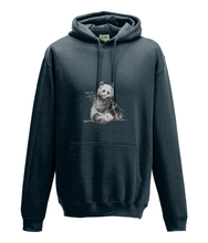 JanaRoos - Hoodie - Packshot - Hand drawn illustration - Round neck - Long sleeves - Cotton - marine blue- panda