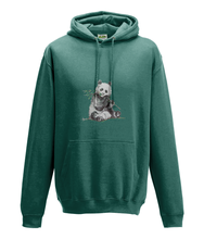 JanaRoos - Hoodie - Packshot - Hand drawn illustration - Round neck - Long sleeves - Cotton - jade - panda