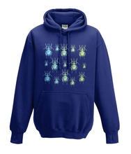 JanaRoos - Hoodies - Kids Hoodie - Packshot - Hand drawn illustration - Round neck - Long sleeves - Cotton - oxford navy blue - marine blauw - beetles - kevers