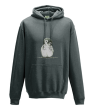 JanaRoos - Hoodie - Packshot - Hand drawn illustration - Round neck - Long sleeves - Cotton - charcoal - penguin