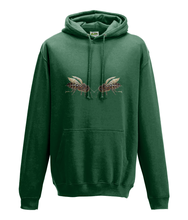 JanaRoos - Hoodie - Packshot - Hand drawn illustration - Round neck - Long sleeves - Cotton - bottle green- flesgroen - bee's - bijen