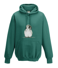 JanaRoos - Hoodies - Kids Hoodie - Packshot - Hand drawn illustration - Round neck - Long sleeves - Cotton - Jade - appelblauw zeegroen- Penguin - Pinguïn