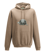 JanaRoos - Hoodie - Packshot - Hand drawn illustration - Round neck - Long sleeves - Cotton -nude -pugg- mops