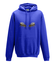 JanaRoos - Hoodie - Packshot - Hand drawn illustration - Round neck - Long sleeves - Cotton - royal blue - royaal blauw - bee's - bijen
