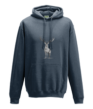 JanaRoos - Hoodie - Packshot - Hand drawn illustration - Round neck - Long sleeves - Cotton - storm grey - deer