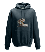 JanaRoos - Hoodie - Packshot - Hand drawn illustration - Round neck - Long sleeves - Cotton - new french navy- foxy - vos