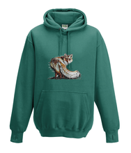 JanaRoos - Hoodies - Kids Hoodie - Packshot - Hand drawn illustration - Round neck - Long sleeves - Cotton - jade - appelblauw zeegroen -fox - vos