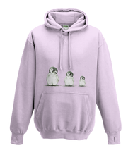 JanaRoos - Hoodies - Kids Hoodie - Packshot - Hand drawn illustration - Round neck - Long sleeves - Cotton - -baby pink - baby roos - Penguins - Pinguïns