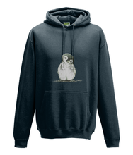 JanaRoos - Hoodie - Packshot - Hand drawn illustration - Round neck - Long sleeves - Cotton - new french navy - penguin