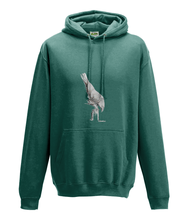 JanaRoos - Hoodie - Packshot - Hand drawn illustration - Round neck - Long sleeves - Cotton -jade - White raven - witte raaf