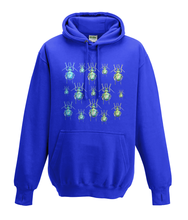 JanaRoos - Hoodies - Kids Hoodie - Packshot - Hand drawn illustration - Round neck - Long sleeves - Cotton - Royal Navy blue -Royaal blauw - beetles - kevers
