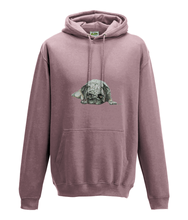 JanaRoos - Hoodie - Packshot - Hand drawn illustration - Round neck - Long sleeves - Cotton - dusty pink -pugg- mops