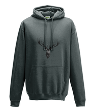 JanaRoos - Hoodie - Packshot - Hand drawn illustration - Round neck - Long sleeves - Cotton -chacoal - deer