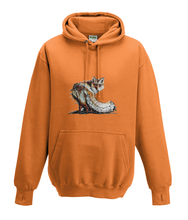JanaRoos - Hoodies - Kids Hoodie - Packshot - Hand drawn illustration - Round neck - Long sleeves - Cotton - orange crush - oranje -fox - vos