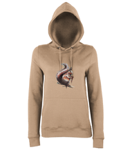 JanaRoos - women's Hoodie - Packshot - Hand drawn illustration - Round neck - Long sleeves - Cotton -nude-squirrel