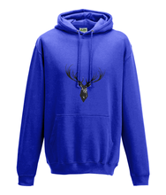 JanaRoos - Hoodie - Packshot - Hand drawn illustration - Round neck - Long sleeves - Cotton - royal blue - deer