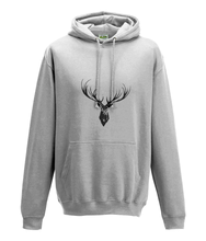 JanaRoos - Hoodie - Packshot - Hand drawn illustration - Round neck - Long sleeves - Cotton - white- deer