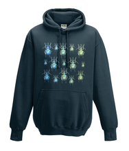 JanaRoos - Hoodies - Kids Hoodie - Packshot - Hand drawn illustration - Round neck - Long sleeves - Cotton -french navy - donker blauw - beetles - kevers
