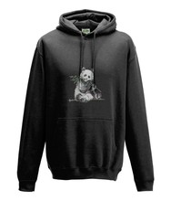 JanaRoos - Hoodie - Packshot - Hand drawn illustration - Round neck - Long sleeves - Cotton - jet black - zwart - panda