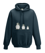 JanaRoos - Hoodies - Kids Hoodie - Packshot - Hand drawn illustration - Round neck - Long sleeves - Cotton - French navy blue - marine blauw - Penguins - Pinguïns