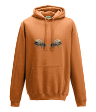 JanaRoos - Hoodie - Packshot - Hand drawn illustration - Round neck - Long sleeves - Cotton - oranje - orange- bee's - bijen